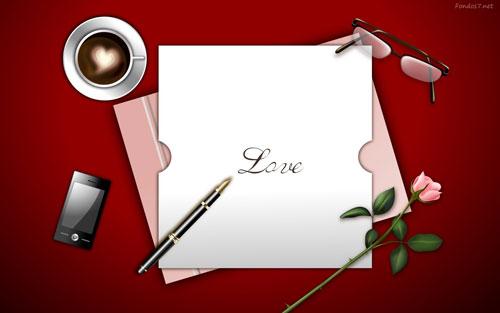 Carta para san valentin