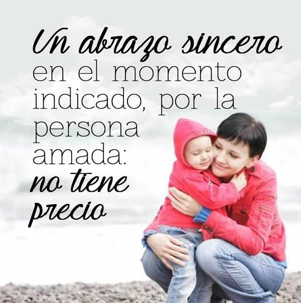 Frases con Fotos de Abrazo: Un abrazo sincero