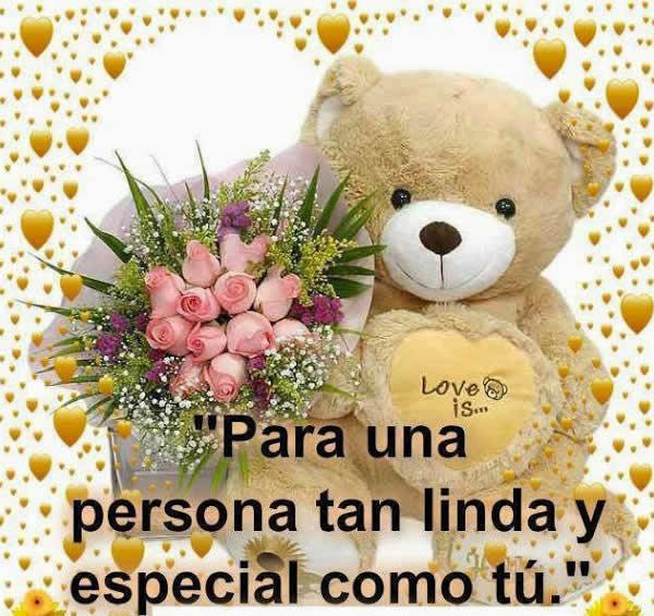 Imagenes de oso de peluche con flores