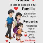 Frases: Nunca des la espalda a tu familia